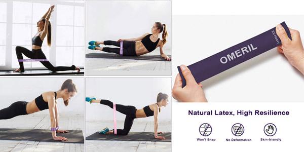 Pack x5 Bandas Elasticas de Fitness Omeril chollo en Amazon