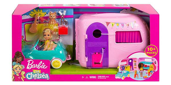 Barbie Chelsea caravana con muñeca y accesorios barata