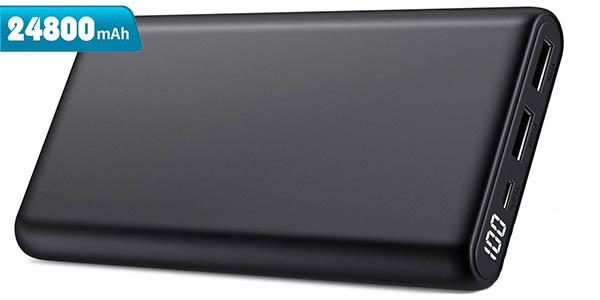 Batería portátil Trswyop de 24.800 mAh con 2 puertos USB
