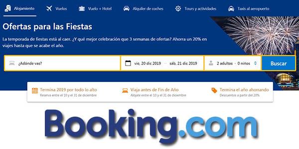 Booking ofertas alojamientos para fin de año