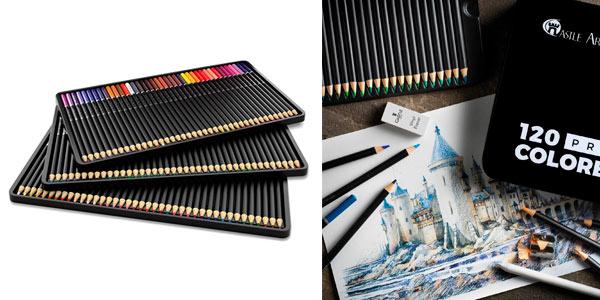 Caja de 120 lápices de colores Castle Art Supplies a buen precio en Amazon