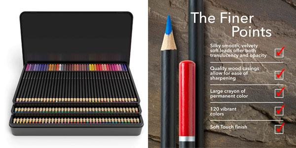 Caja de 120 lápices de colores Castle Art Supplies en oferta en Amazon