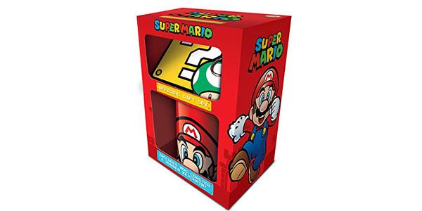 Pack Super Mario Taza + Posavasos + Llavero barato en Amazon