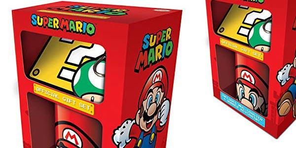 Pack Super Mario Taza + Posavasos + Llavero chollo en Amazon