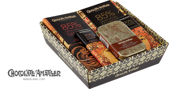 Cesta 5 Chocolates Amatller Orígenes de 211 gr barata en Amazon