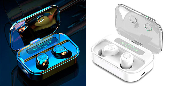 Chollo Auriculares pioleUK inalámbricos intrauditivos Bluetooth 5.0 con pantalla LED