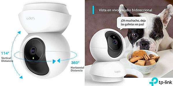Chollo Cámarade vigilancia TP-Link Tapo C200 Wi-Fi Full HD con visión nocturna y detección de movimiento