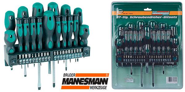 Chollo Juego Mannesmann M11415 de 17 destornilladores y 20 puntas