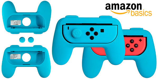 Chollo Kit AmazonBasics de empuñaduras para mandos Joy-Con de Switch