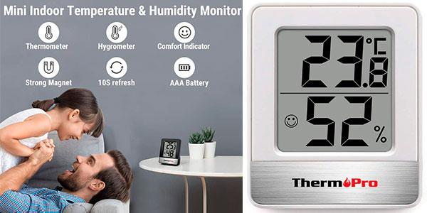 Chollo Mini Termohigrómetro digital ThermoPro TP49