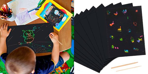 Chollo Pack de 50 hojas de dibujo Scratch Art
