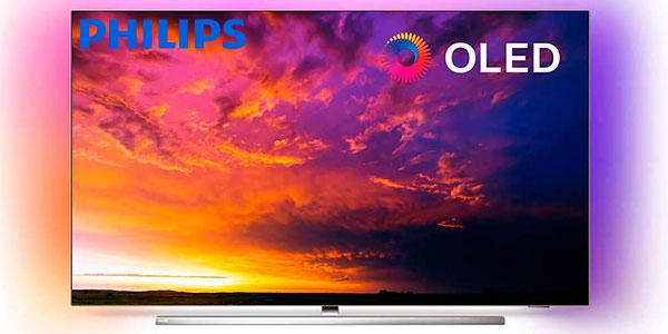 "Chollo Smart TV Philips 55OLED854 UHD 4K HDR Ambilight de 55"" con IA"