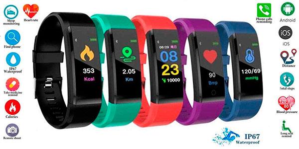 Chollo Smartband pioleUK con Bluetooth y sensor de frecuencia cardíaca