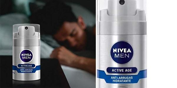 Hidratante Anti-arrugas NIVEA MEN Active Age DNAge de 50 ml chollo en Amazon