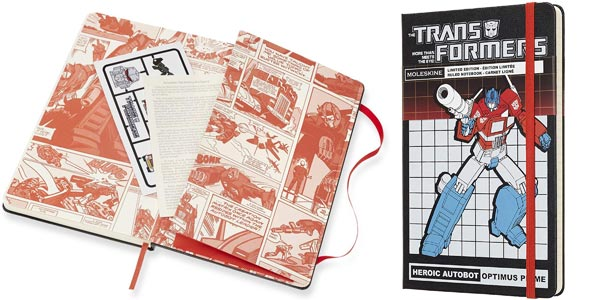 Libreta grande Moleskine Edición Limitada Transformers Optimus Prime barata en Amazon