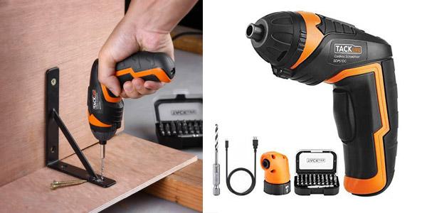 Destornillador inalámbrico Tacklife SDP51DC + 30 accesorios barato en Amazon