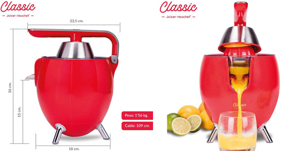 Exprimidor Zumo Eléctrico New Chef Juicer Classic chollo en Amazon