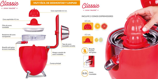 Exprimidor Zumo Eléctrico New Chef Juicer Classic chollazo en Amazon