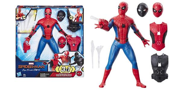 Figura Deluxe Spider-Man Traje lanzaredes (Hasbro) barata en Amazon