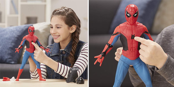 Figura Deluxe Spider-Man Traje lanzaredes (Hasbro) chollo en Amazon