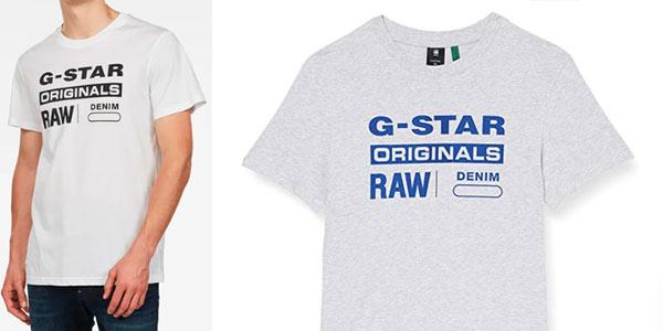Camiseta G Star Raw Graphic 8 barata en Amazon