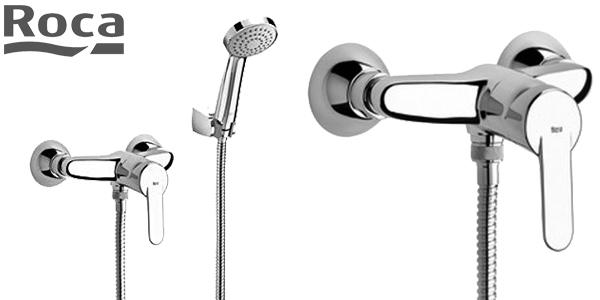 Grifo de bañera Roca A5A3025C00 con alcachofa y soporte de ducha barato en Amazon