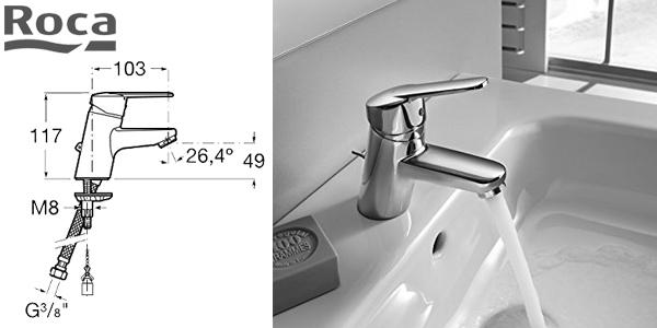 Grifo monomando de lavabo Roca A5A6125C00 chollo en Amazon