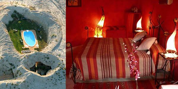 Hotel Cueva Tardienta Monegros alojamiento económico