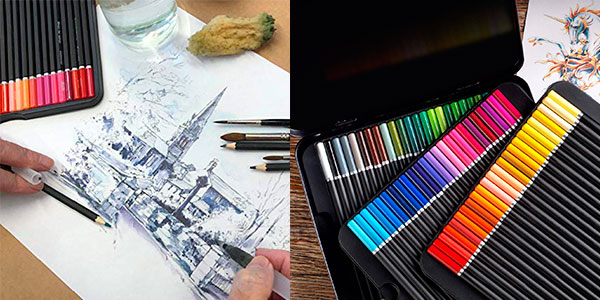 Juego de 72 lápices de acuarela Premium Artist Lead de Castle Art Supplies barato
