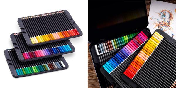 Juego de 72 lápices de colores Castle Art Supplies Serie Premium baratos en Amazon