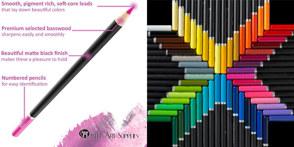 Juego de 72 lápices de colores Castle Art Supplies Serie Premium en oferta en Amazon