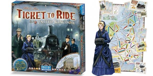Juego de mesa ¡Aventureros al Tren! Expansión Ticket to Ride: Reino Unido + Pensilvania barato en Amazon