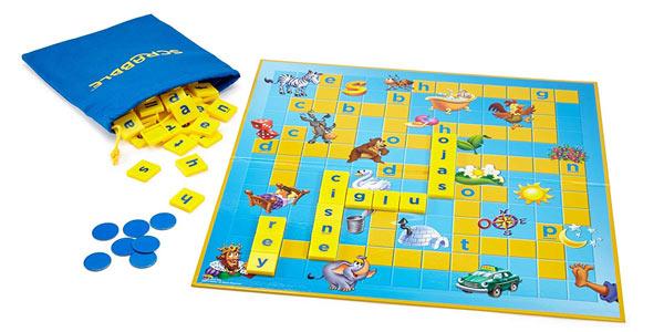 Juego de mesa Scrabble Junior (Mattel Games Y9669) para niños chollo en Amazon