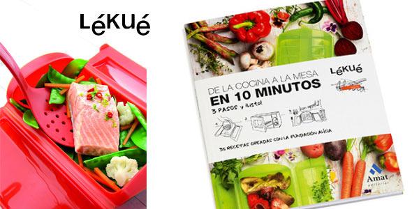 Kit Regalo Lékué Vaporera 650 ml + Libro chollo en Amazon