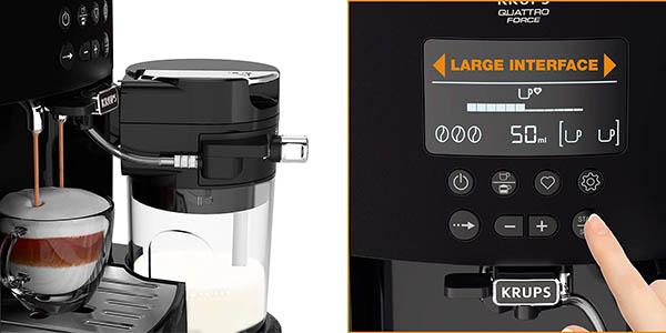 Krups Quattro Force Arabica Latte EA819E10 cafetera eléctrica barata