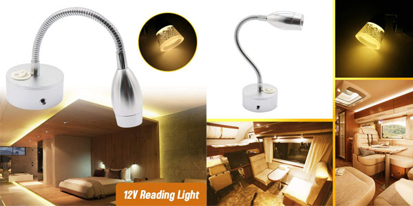 Lámpara LED de lectura KKmoon para cabezal chollo en Amazon