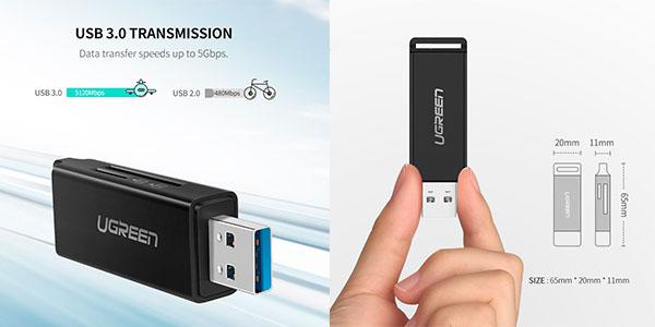Lector de tarjetas de memoria Ugreen USB 3.0 barato