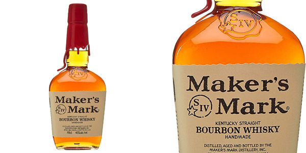 Maker's Mark Handmade Bourbon Whisky de 70 cl barato en Amazon