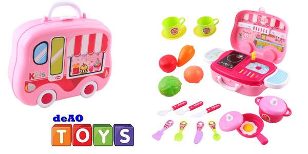 Maletín portátil con accesorios deAO Toys Little Chef Kitchen barato en Amazon