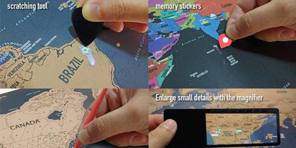 Mapa Mural del Mundo Pootack para rascar chollo en Amazon