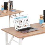 Mesa de escritorio plegable SogesHome de 100 x 60 x 75 cm barata en Amazon