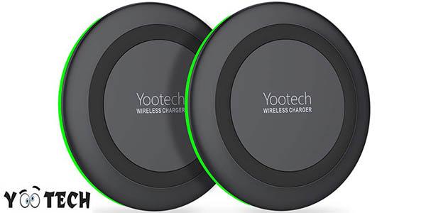Pack 2 cargadores inalámbricos Yootech Qi