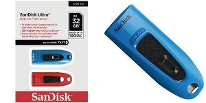 Pack x2 Pendrive SanDisk Ultra de 32 GB USB 3.0