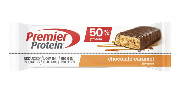 Pack x24 barritas proteinas Premier Protein Bar 50% Chocolate Caramel bajas en azúcar chollo en Amazon