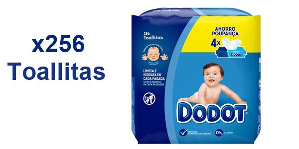 Pack x256 toallitas Dodot para bebé barato en Amazon