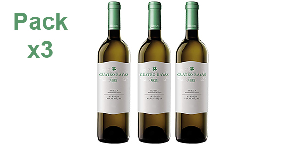 Pack x3 Cuatro Rayas Verdejo 1935-3 de 750 ml/ud barato en Amazon