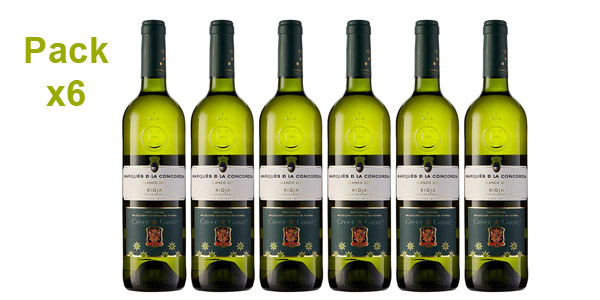 Caja x6 botellas vino blanco Marqués de la Concordia de 750 ml barata en Amazon