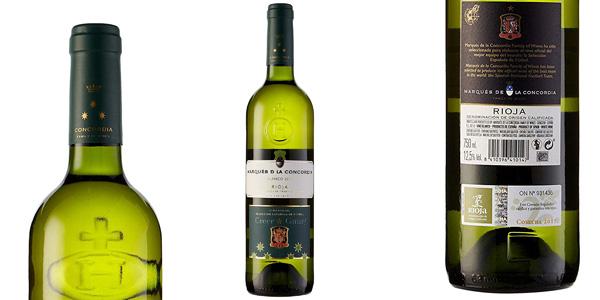 Caja x6 botellas vino blanco Marqués de la Concordia de 750 ml chollo en Amazon