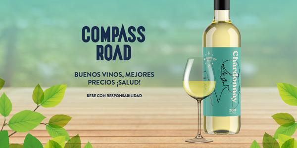 Pack x6 Botellas de Vino Chardonnay Compass Road de 750 ml chollo en Amazon