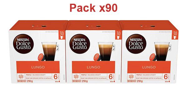 Pack x90 Cápsulas Nescafé Dolce Gusto Magnum Café Lungo barato en Amazon